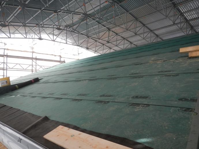 Das neue Dach unterm Interimsdach